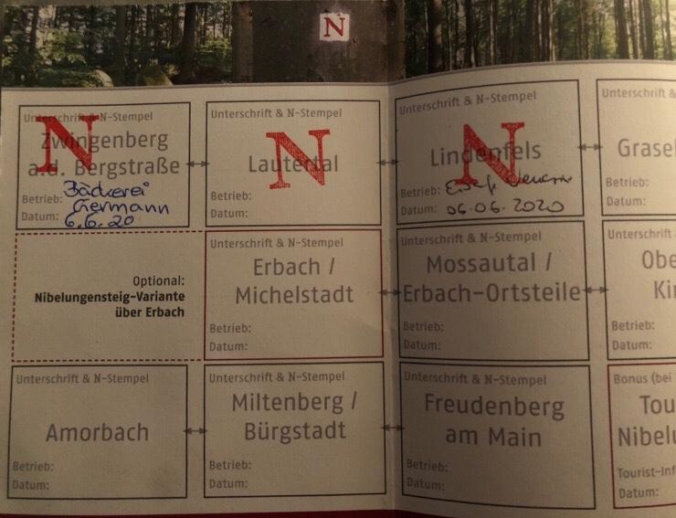 Stempelpass Nibelungensteig